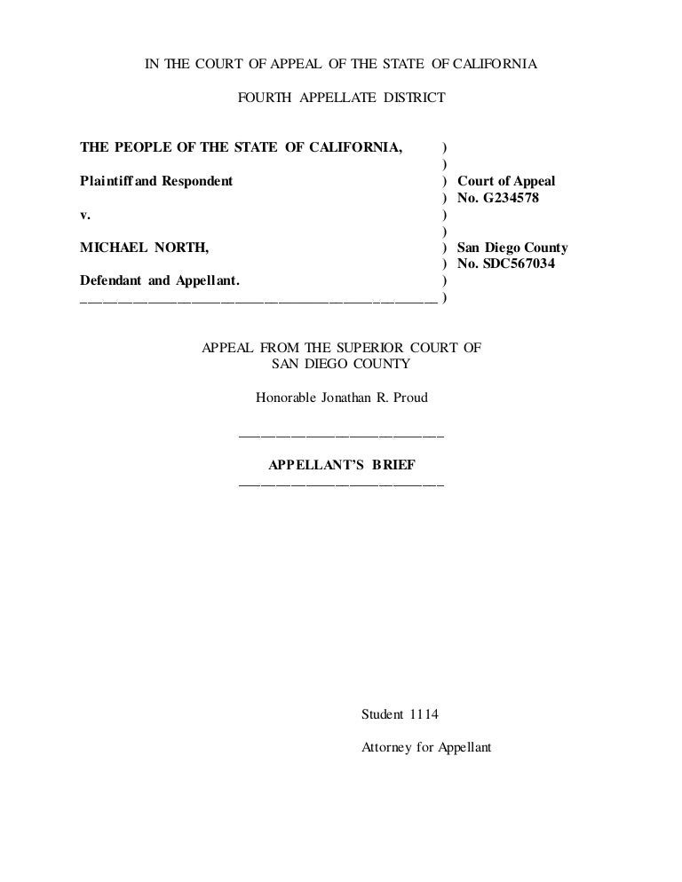 what is the purpose of an appellate brief