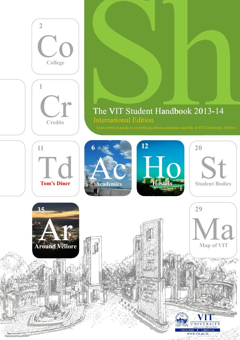 Vit Student Handbook International Edition 13 14 Greeb
