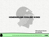 Chemical Structure: Chemical Bonding. Homonuclear Covalent Bonds