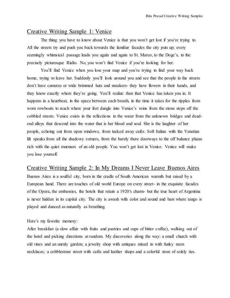 Creative writing change essay