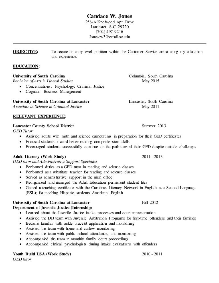 resume customer service 2015 - Sample Resume Ged Student