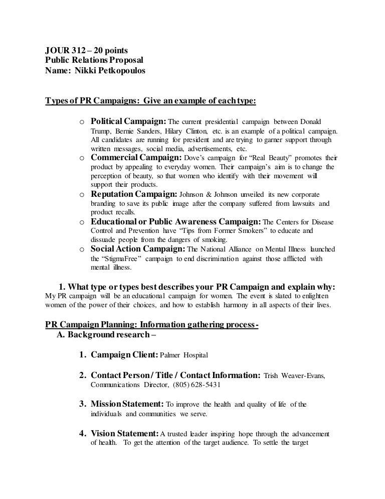 PR Proposal SWOT analysis
