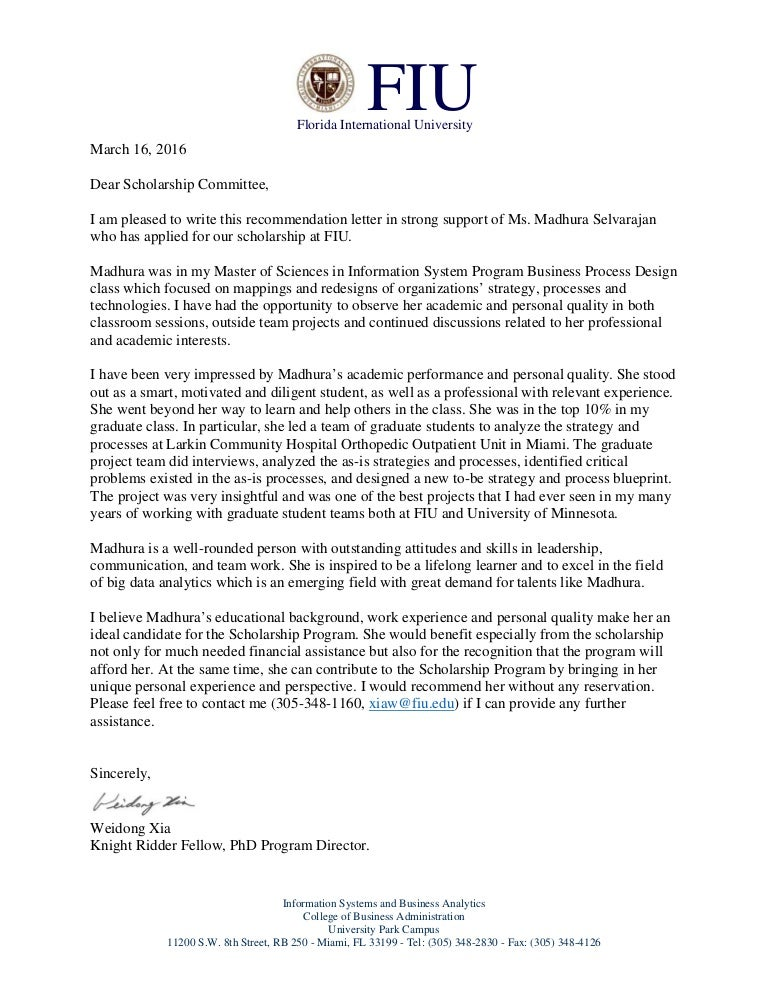 Scholarship Recommendation Letter Examples from cdn.slidesharecdn.com