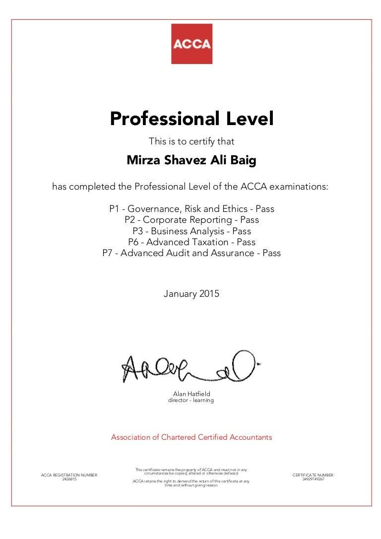 Acca certification xflitez Images