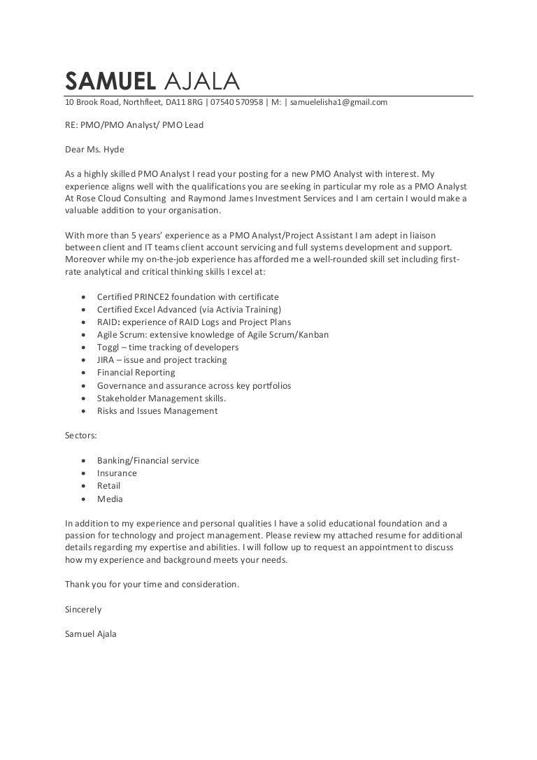 Cover Letter Original