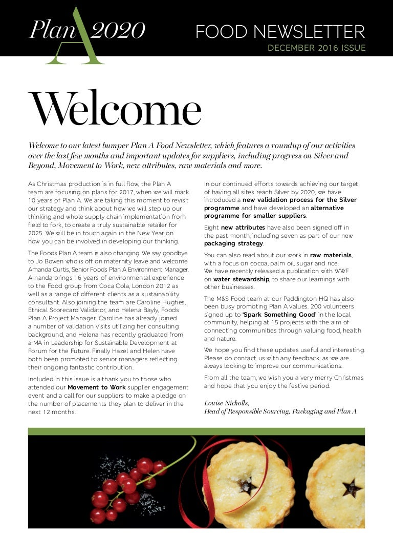 1612_Foods Plan A December Newsletter