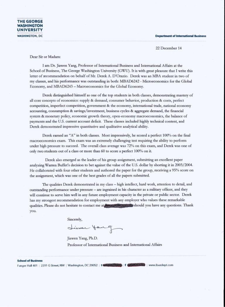 letters of recommendation university of washington