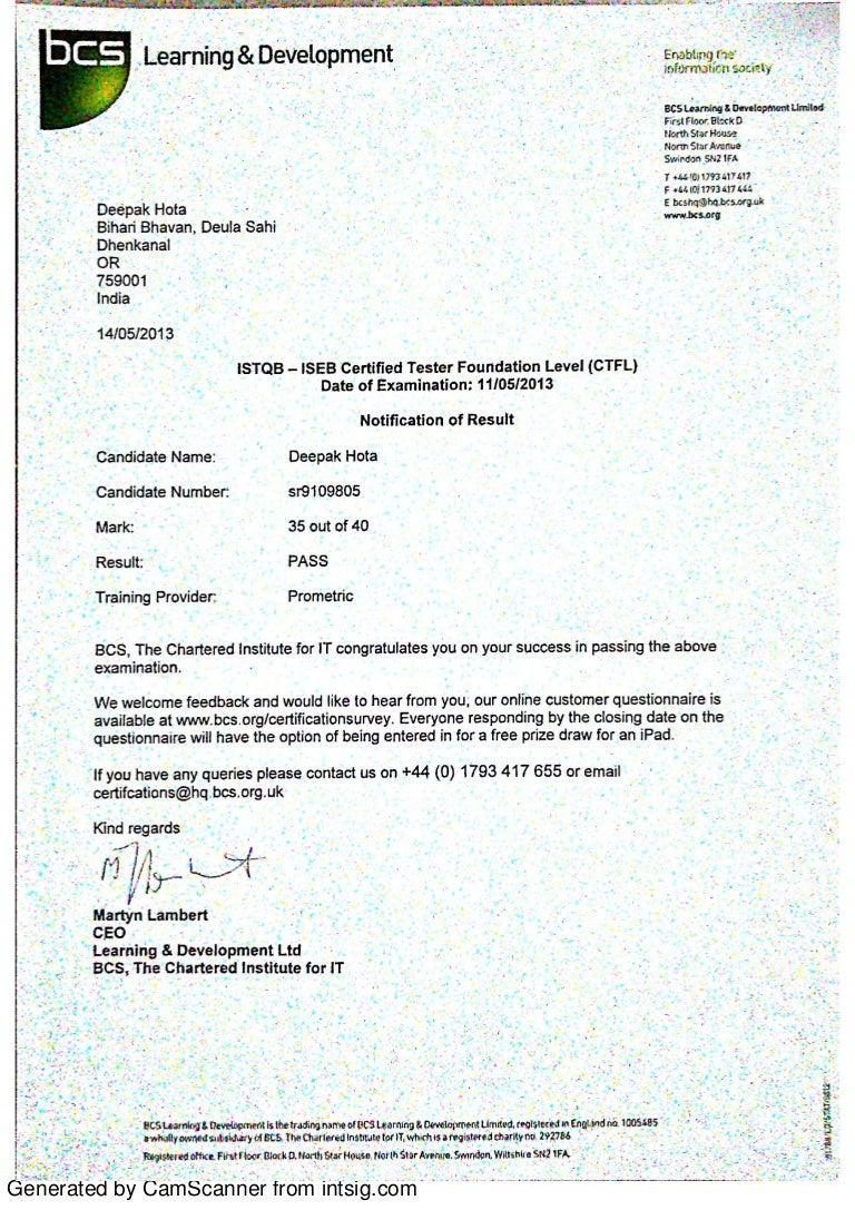 Certificate istqb iseb foundation level xflitez Gallery
