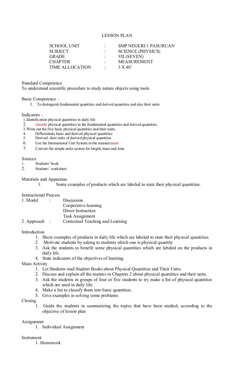 lesson plan in science 3 Additional activities are available here: keep texas wild lesson plans  e 3a  7th grade science 10b technology integration (computer literacy) 12611 (4.