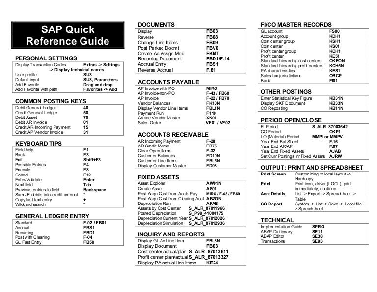 49705421 sap-fi-co-quick-reference-guide