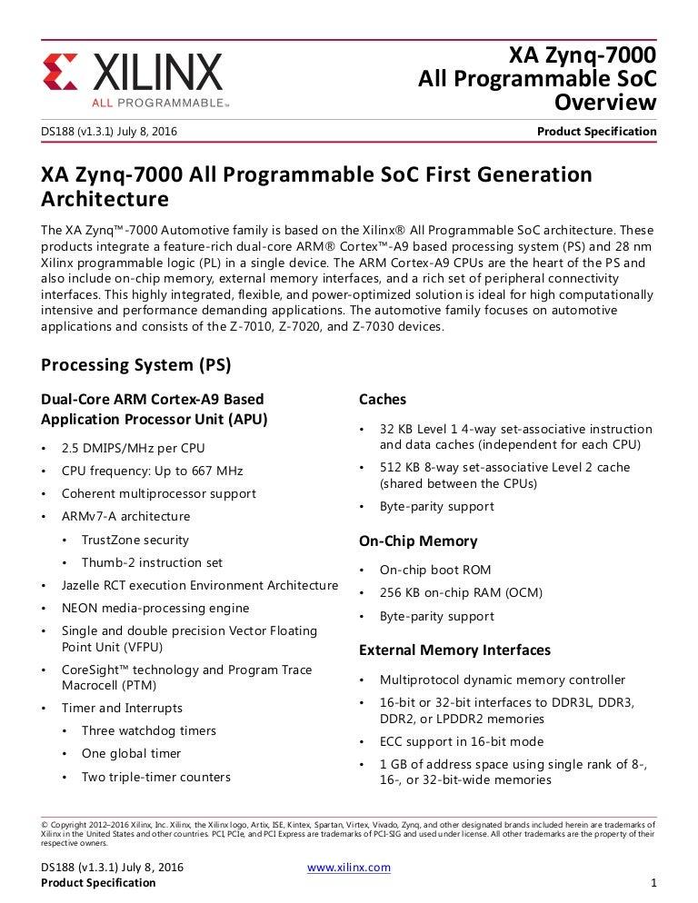 ds188-XA-Zynq-7000-Overview