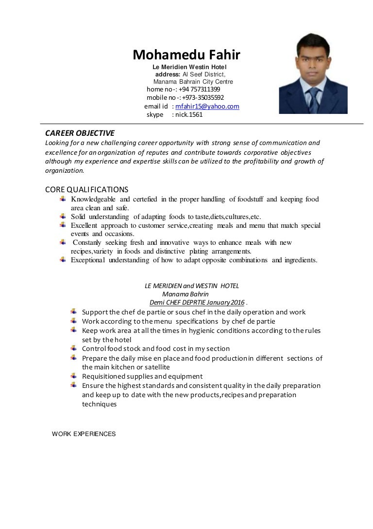 chef career objective 98 pastry chef resume opening sentence for