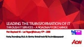 Leading an  IT Services Transformation