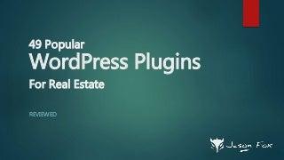 Real Estate WordPress Plugins - Reviewed