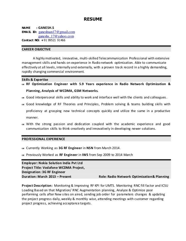Rf Engineer Resume Ukrandiffusion