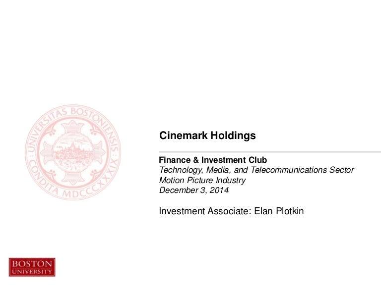 Cinemark Pitch