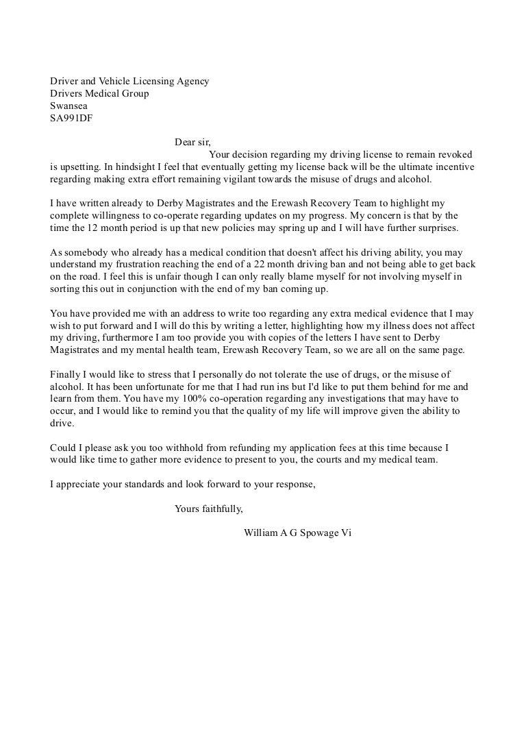 Dvla Response Futher Revoked License Letter