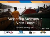 Supporting Survivors in Sierra Leone