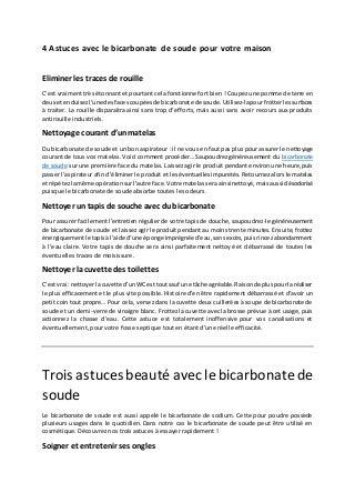 4 astuces avec le bicarbonate de soude pour votre maison dernier articles