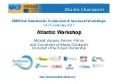 Outputs and recommendations from the Atlantic Sea-basin Checkpoint Workshop