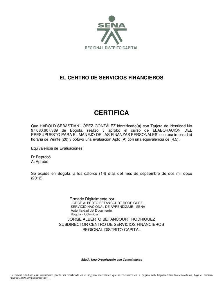 4 certificado deeelaboracion de presupuesto para el manejo