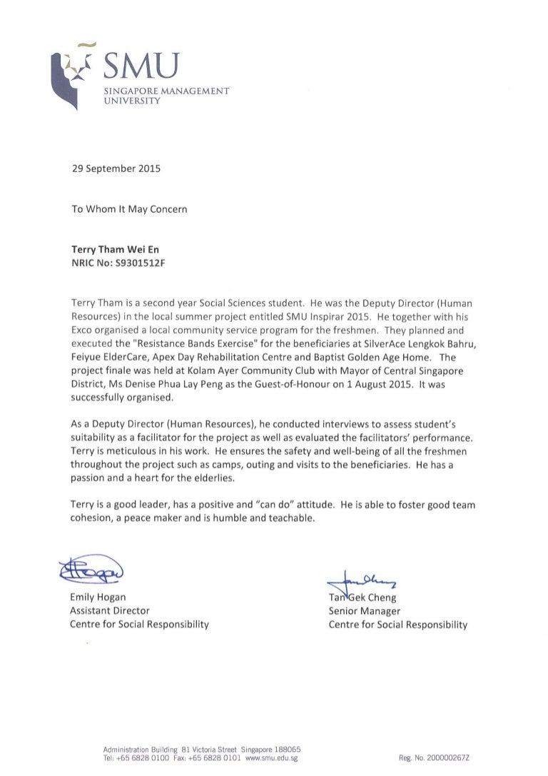 Letter Of Recommendation For Community Involvement from cdn.slidesharecdn.com