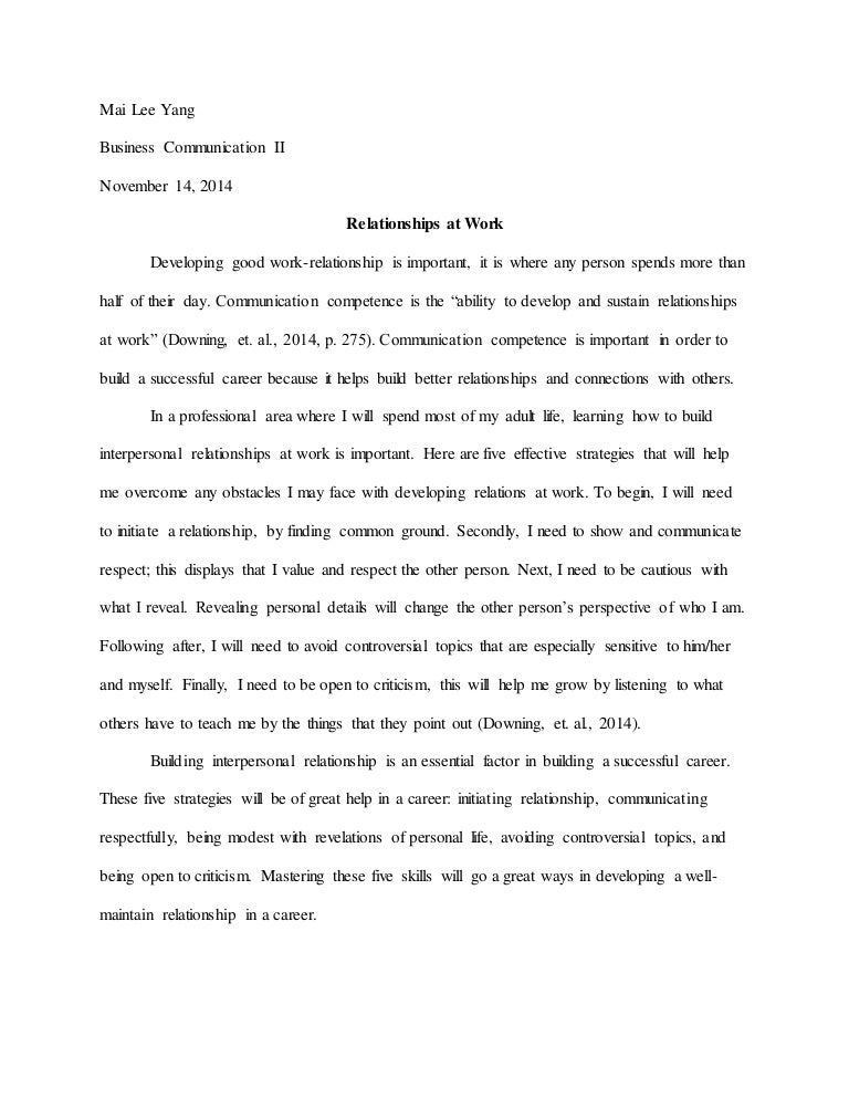 English Essay Examples Comparing Symmetrical Complementary Interpersonal Communication Essays In English also Thesis Statement For Persuasive Essay Halimbawa Ng Tagalog Na Thesis Sarah Edison Knapp Parenting Skills  Science And Technology Essays