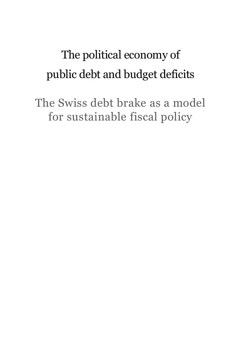 Brake Quotes Lueber Swiss Debt Brake Pol Econ Of Fiscal Deficits