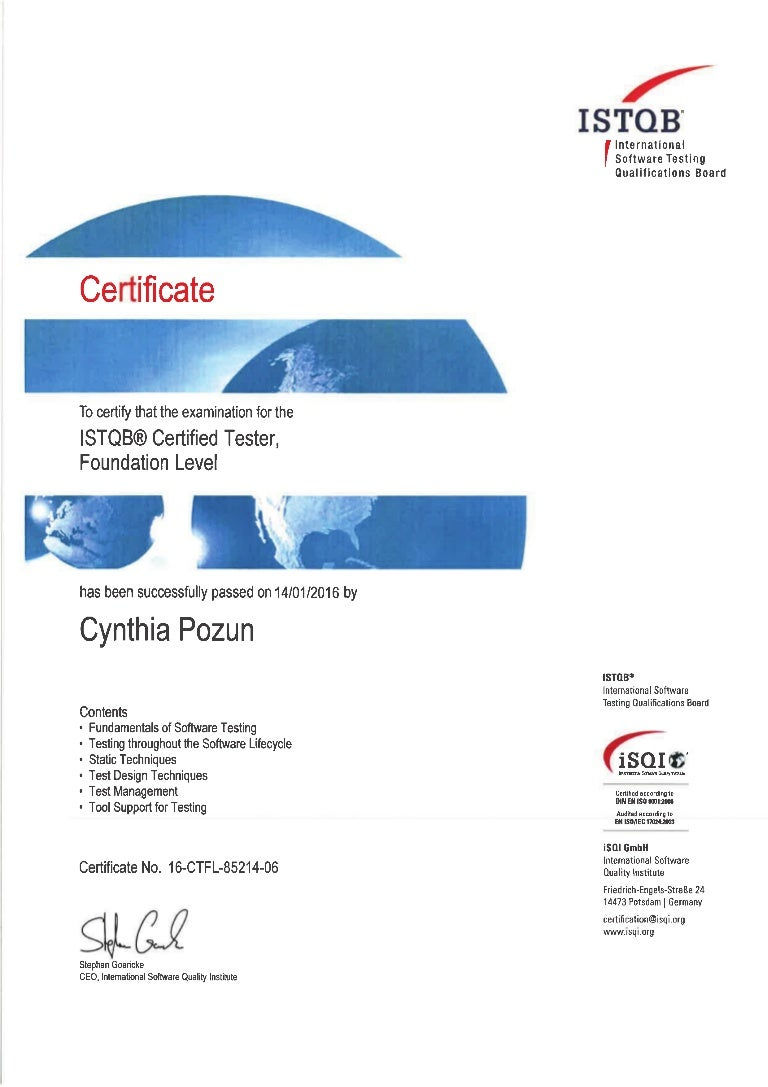 Istqb foundation level certification xflitez Images
