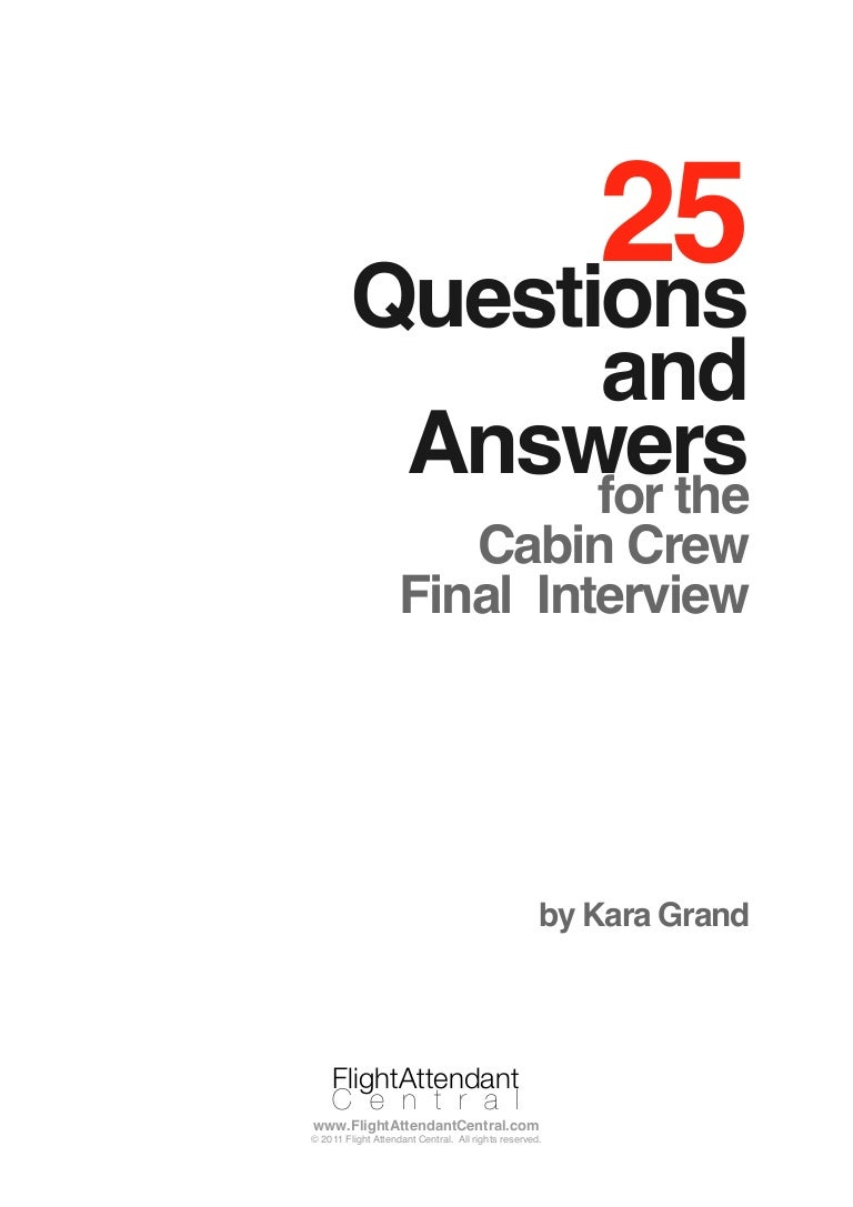 questions and answers for cabin crew final interview