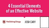 4 Essential Elements of an Effective Website