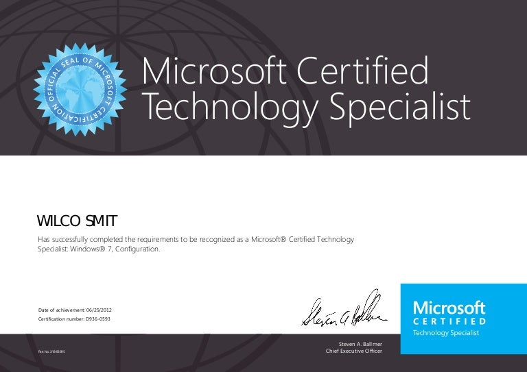 Microsoft Certified Technology Specialist Windows 7 70 680