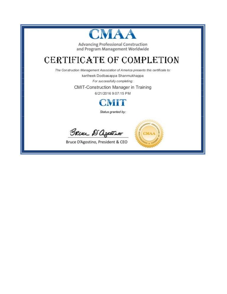 cmit certificate