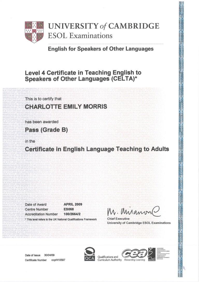 Celta certificate xflitez Image collections
