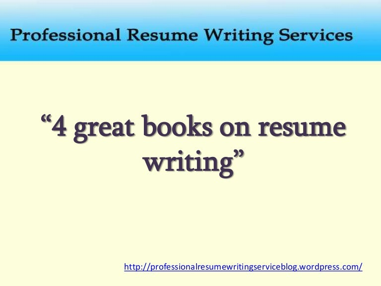 free resume writing books