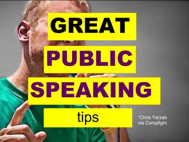 4 great public speaking tips effective presentation skills training