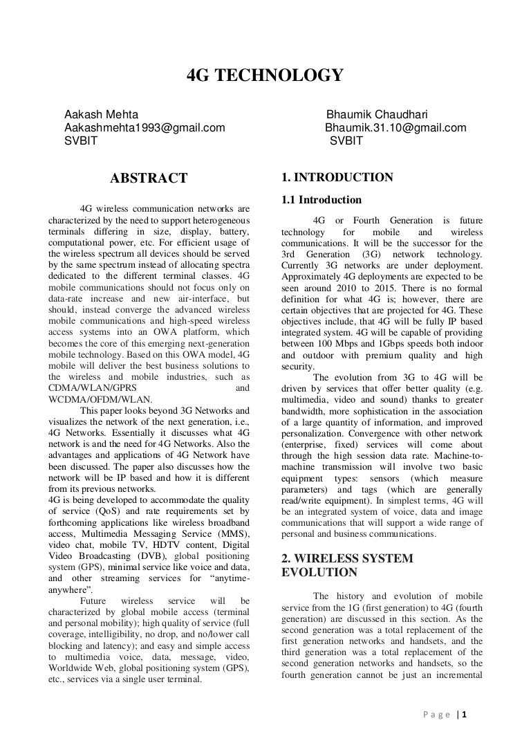 communication system research paper