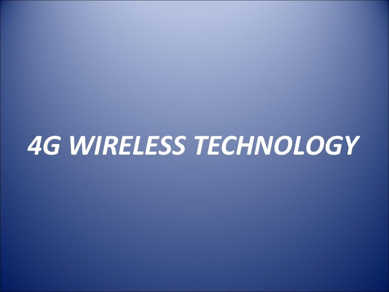 Introduction wireless technology.