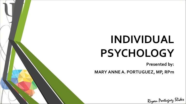 4 individual psychology