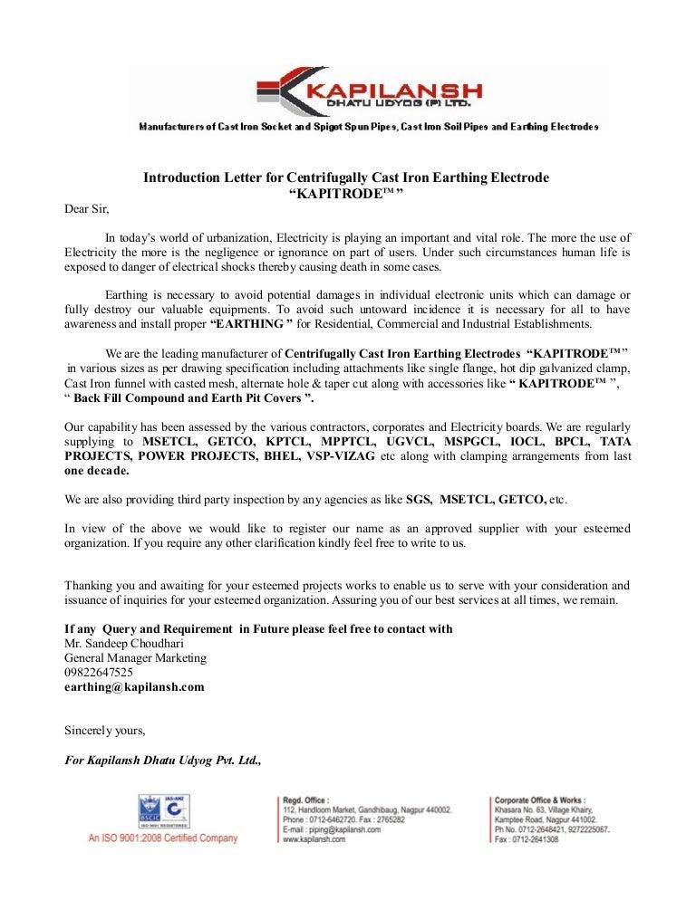 4 Introduction Letter Kapitrode