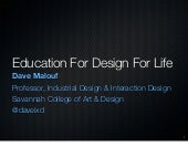 Education for Design For Life