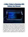 4 Killer Tricks to Maximize HTC Battery Any Moment