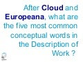 Europeana Cloud - Who is Who?