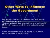 4 other ways to influence the government