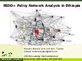 REDD+ Policy Network Analysis in Ethiopia