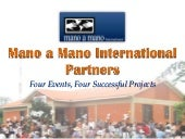4 Mano a Mano Events, 4 Successful Projects in Bolivia