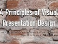 4 principles of visual presentation design