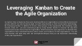 Leveraging Kanban to Create the Agile Organization