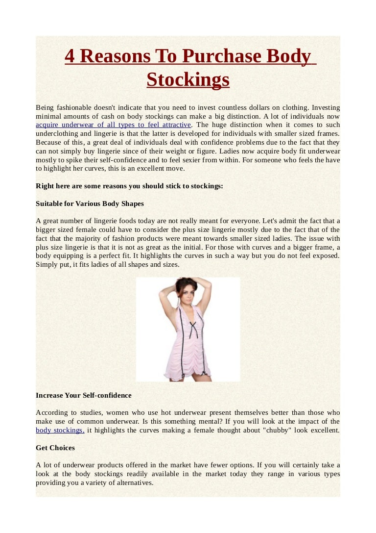 4 Reasons To Purchase Body Stockings