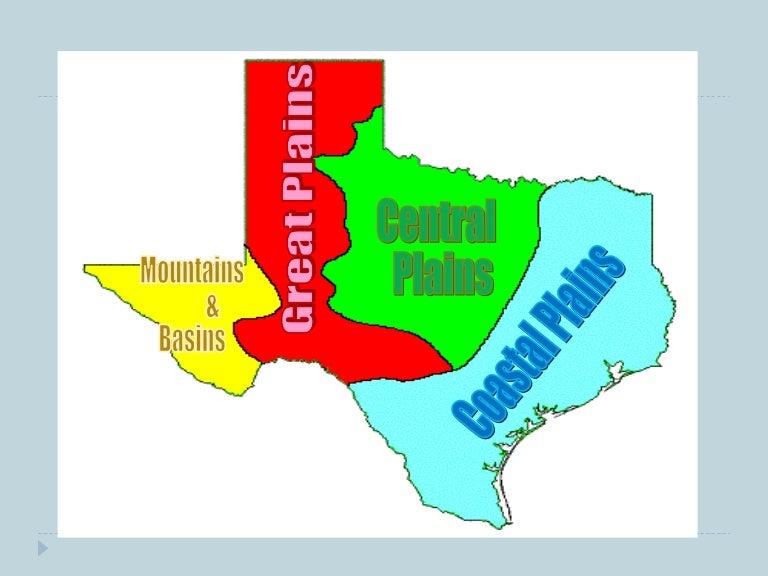 Texas 4 Regions Map